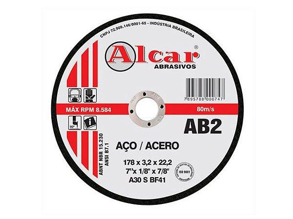 Disco de Corte de Aço AB2 Alcar