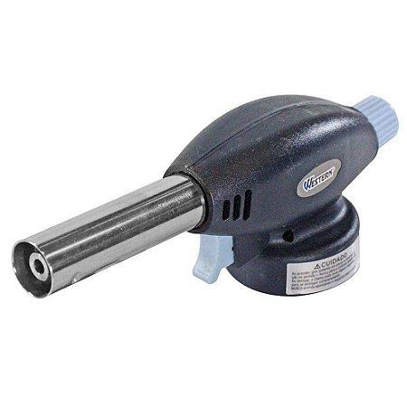 Maçarico c/ Encaixe Recarregável Acendedor Automático