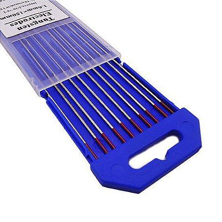 Eletrodo Tungstenio c/ 2 Torio Vermelho Carb/Inox