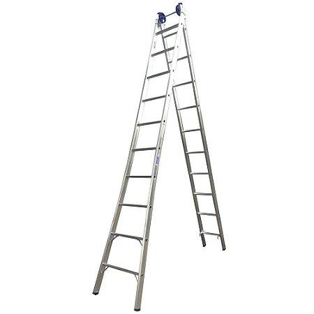 Escada Ext. de Alumínio Dupla 10 Degraus