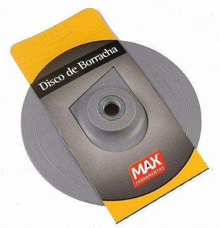 """Disco de Borracha 7"""" Rígido Cinza 15210 Max"""
