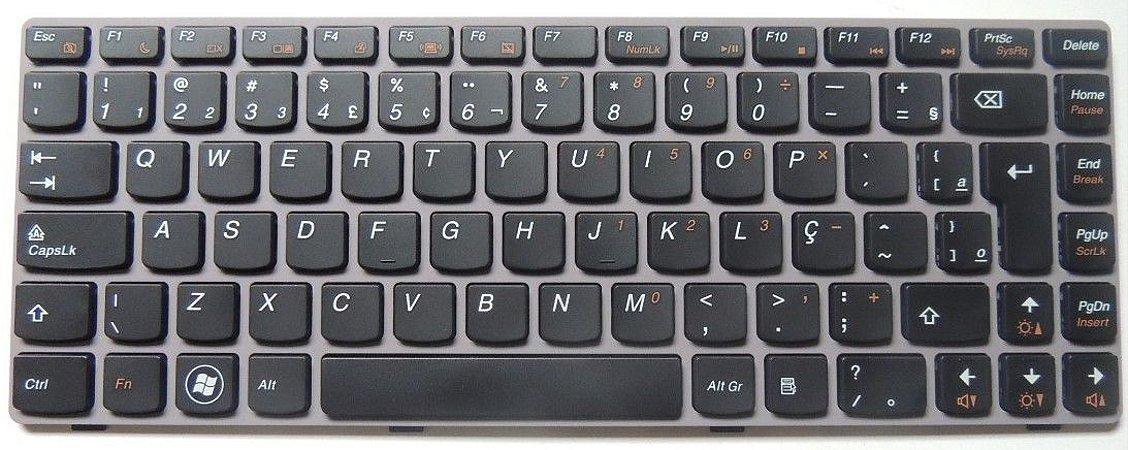 Teclado Lenovo Z470 Z370 V116920fk1 Br Pn: 25-011964