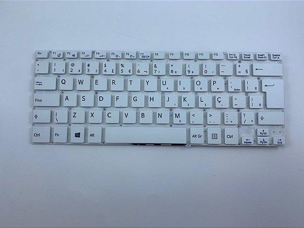 Teclado para Notebook Sony Vaio Fit SVF14A Series Branco