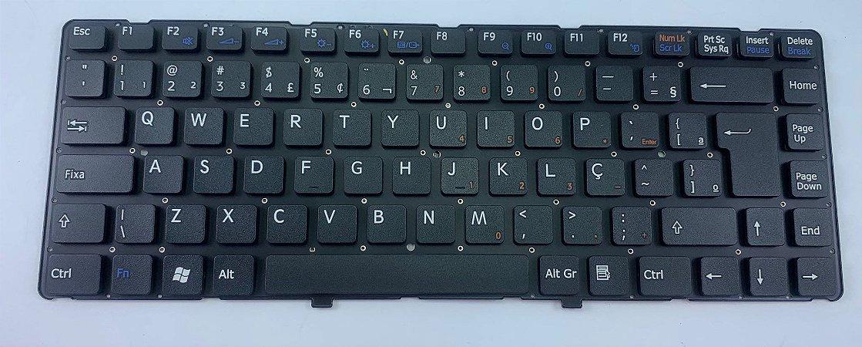 Teclado Notebook Sony Vaio Vgn-nw Vgn  Preto Com Ç Sem Frame