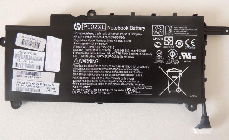Bateria Pl02xl Para Notebook Hp Pavilion X360 11 N026br