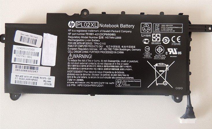 Bateria Pl02xl Para Notebook Hp Pavilion X360 11 N038br