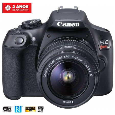 Canon EOS Rebel T6 com Lente 18-55mm