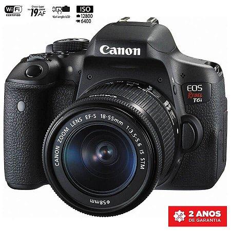 Canon EOS Rebel T6i com Lente 18-55mm