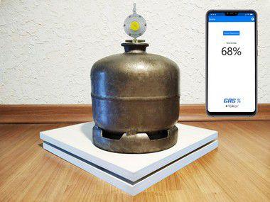 Medidor de nivel de gás (Com envio de mensagens)