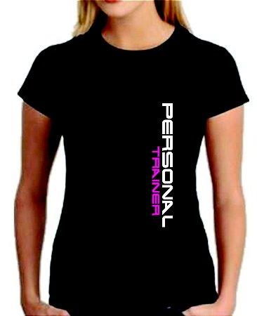 Camiseta baby look feminina Personal Trainer