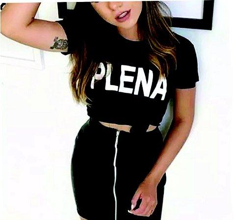 Camiseta baby look feminina Plena moda tumbir