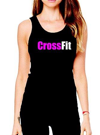 Camiseta regata feminina Crossfit elite fitness - malha fria pv!