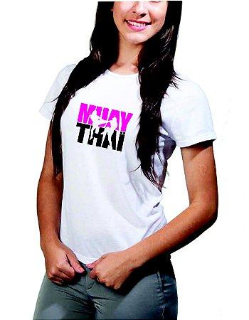 Camiseta baby look feminina Muay Thai - 100% algodão!