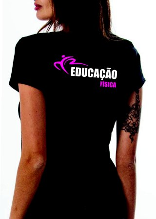 Camiseta baby look feminina Educação Física