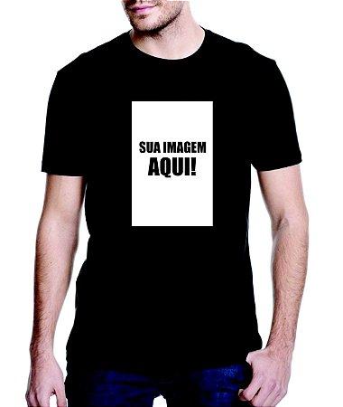 Camiseta Preta personalizada com sua imagem - Veja descrição!