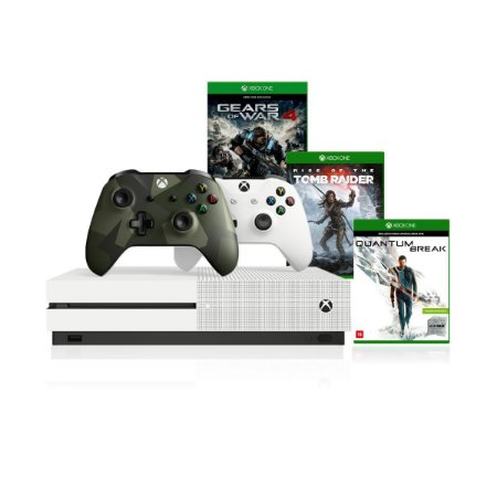 Console Xbox One S 1tb 4k 2 Controles 1 Armed Forces II e Kit Com 3 Jogos - Microsoft