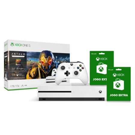 Console Xbox One S 1TB  Pacote Game Anthem 1 Controle Sem fio e 2 Jogos Extras - Microsoft