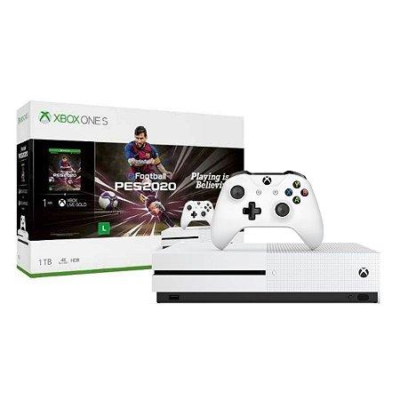 Console Xbox One S 1tb 4k Edição Especial Com Jogo PES 2020 - Microsoft