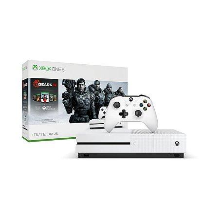 Console Xbox One S 1tb 4k 1 Controle Branco Pacote Gears  - Microsoft