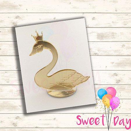 Aplique Cisne com Base (10 peças) 5 cm