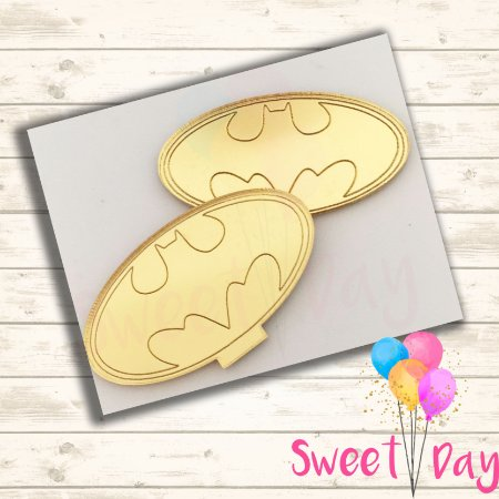 Aplique Símbolo Batman (10 peças)  5 cm