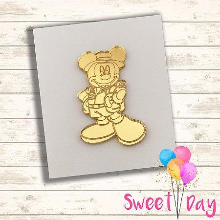 Aplique Mickey Safari  (10 peças) 5 cm