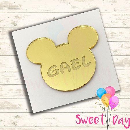 Aplique Mickey com nome (10 peças) 6 cm