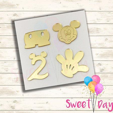 Aplique Kit Mickey ( 20 peças) 5 cm
