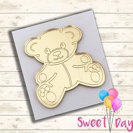 Aplique Ursinho Teddy (10 peças) 4 cm