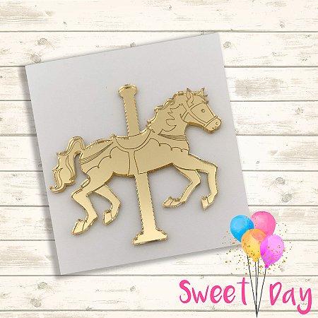 Aplique Cavalo Carrossel Encantado (10 peças) 4 cm