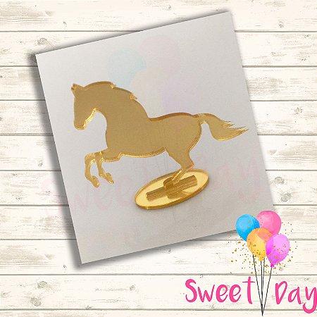 Aplique Cavalo com Base ( 10 peças)  5 cm