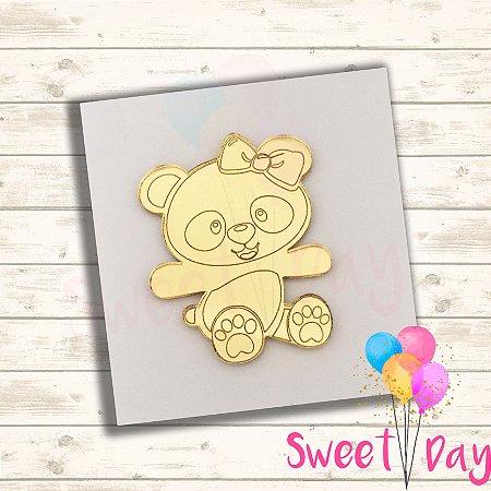 Aplique Ursinha Panda (10 peças) 4 cm