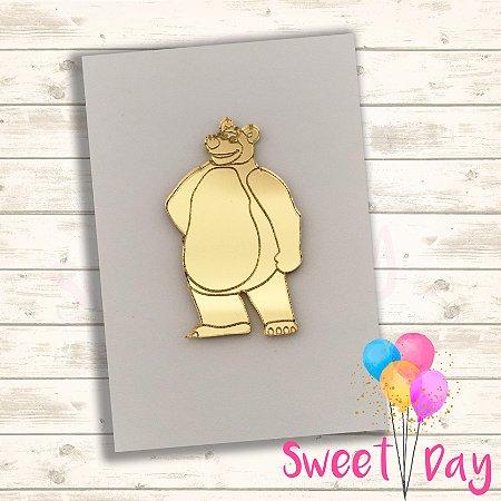 Aplique Urso  da Masha (10 peças) 5 cm