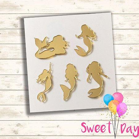 Aplique Sereias ( 25 peças ) 5 cm