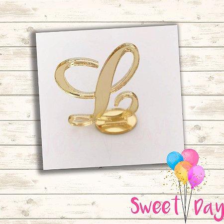 Aplique letra com base ( 10 peças ) 5 cm