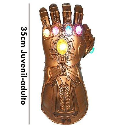 Manopla do Infinito Thanos com Luzes Led Luva Vingadores Alta Qualidade