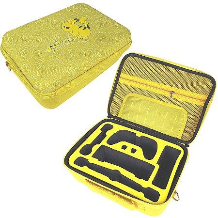 Bolsa Bag Nintendo Switch Maleta Viagem Amarela Top Luxo