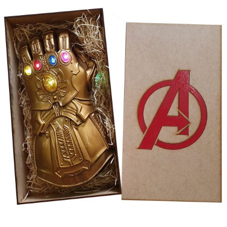 Manopla Do Infinito Thanos Luz Led Luva Vingadores + Caixa