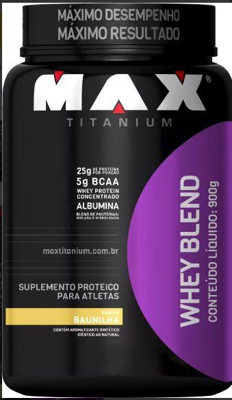Whey Blend (900g) Baunilha Max Titanium