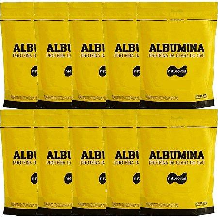 10x Albumina 500g Naturovos 5,0kg - Sabores