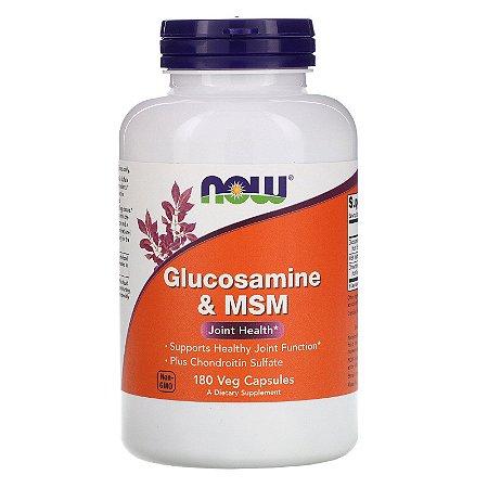 NOW Supplements Glucosamine & MSM - 180 Veg Capsules