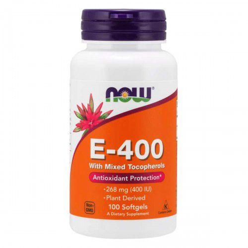 Vitamina E E-400 Ui Mixed Tocopherols (100 Sgels) Now Foods