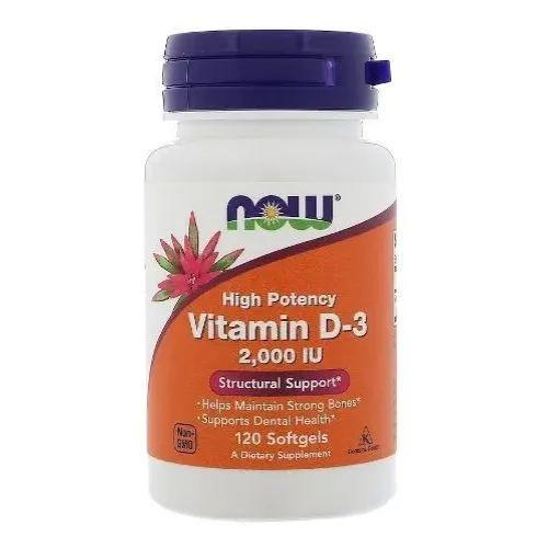Vitamina D3 2000 Ui - Now Foods - 120 Softgels