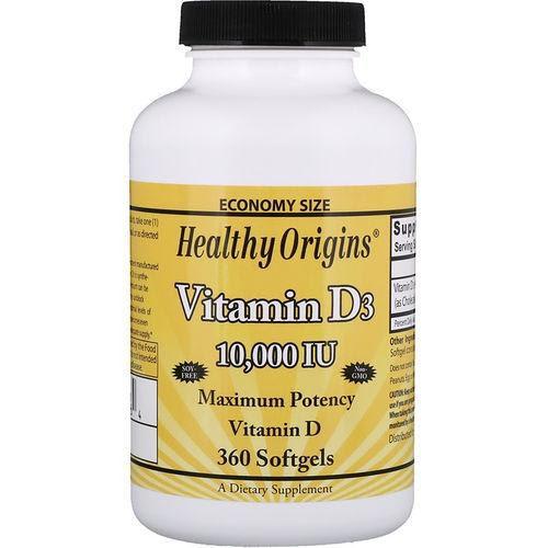 Vitamina D3 10.000 Iu 360 Softgels Importado