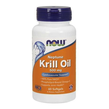 Neptune Krill Oil Now Foods 500mg 60 Cápsulas Softgels