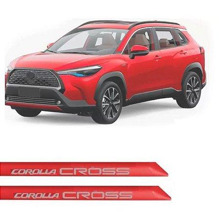 Kit Friso Lateral Flash Corolla Cross Vermelho Granada 2021 2022 Slim