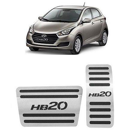Pedaleira Hyundai HB20 Automático 2012 a 2019 Aço Inox GPI