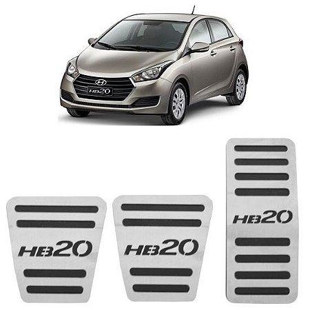 Pedaleira Hyundai HB20 Manual 2012 a 2019 Aço Inox GPI