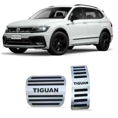 Pedaleira VW Tiguan Automático 2018 a 2021 Aço Inox GPI