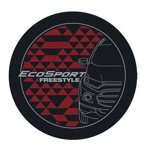 Capa de Estepe Comix Ecosport New Freestyle Vermelha e Prata